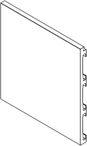 Xinnix aluminium gelakte plint - 3000 mm