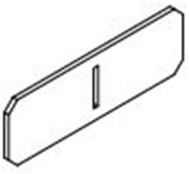 Xinnix aluminium verbindingsstuk plint-plint