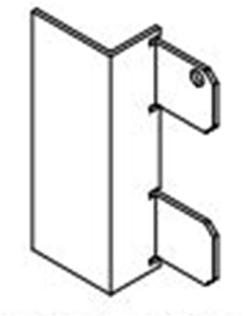 Xinnix aluminium verbindingsstuk plint-deur